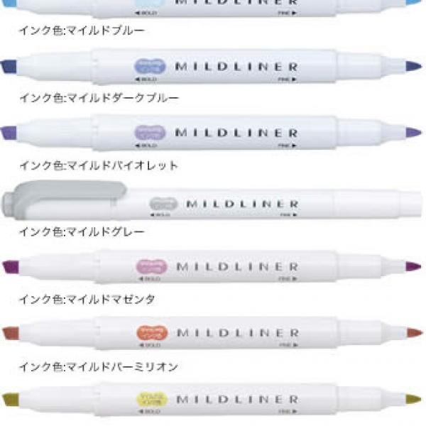 รูปภาพสินค้า ปากกาเน้นข้อความ 2 หัว Zebra Mildliner