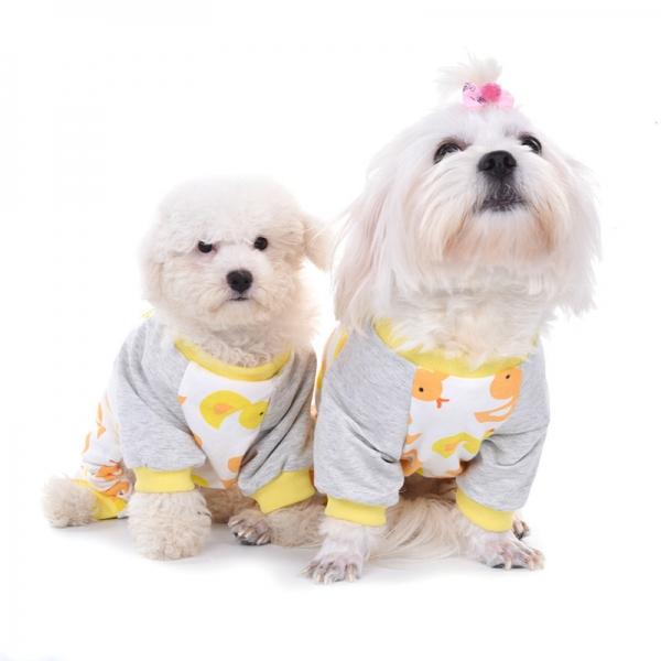 รูปภาพสินค้า ชุดนอนสุนัข เสื้อผ้าหมาแมว สกรีน ลายเป็ดน้อย ผ้าคอตตอนใส่สบายมากๆ