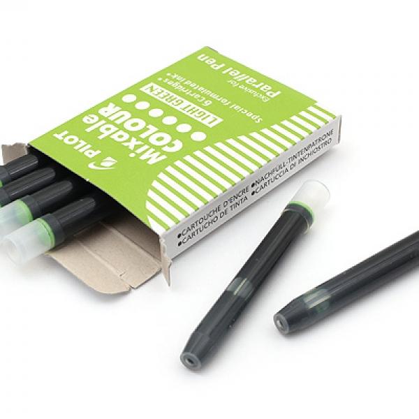 รูปภาพสินค้า หมึกหลอดสำหรับปากกาอักษรประดิษฐ์ Pilot Mixable Colour Pen Refill กล่อง 6 หลอด