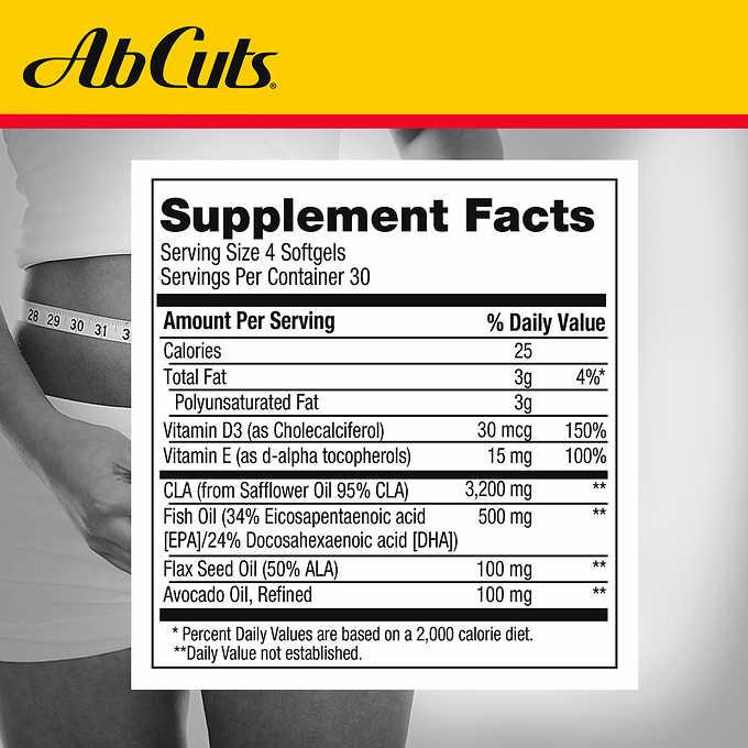 �ล�าร���หารู��า�สำหรั� Ab Cuts Enhanced CLA Belly Fat Formula